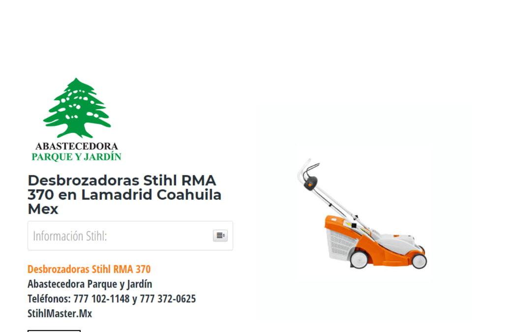 Desbrozadoras Stihl RMA 370 en Lamadrid Coahuila Mex