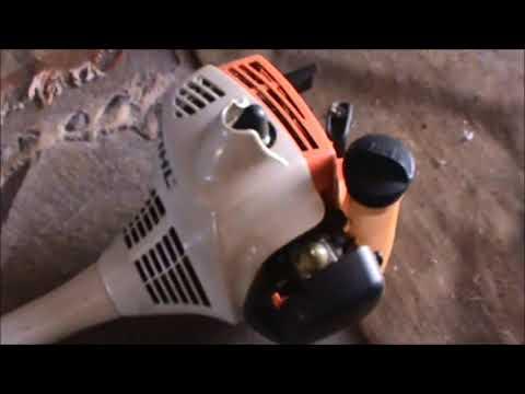 Como arrancar/encender desbrozadora stihl de 2 tiempos FS 55