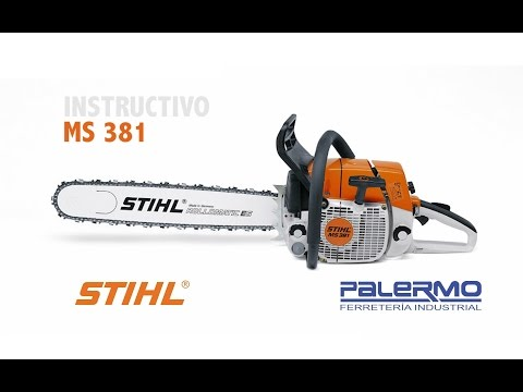 Instructivo / Tutorial motosierra Stihl MS381 – Ferreteria Palermo