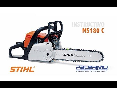 Instructivo / Tutorial motosierra Stihl MS180 C – Ferreteria Palermo