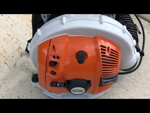 Stihl Br700 blower/sopladora stihl 700/soplando en la calle
