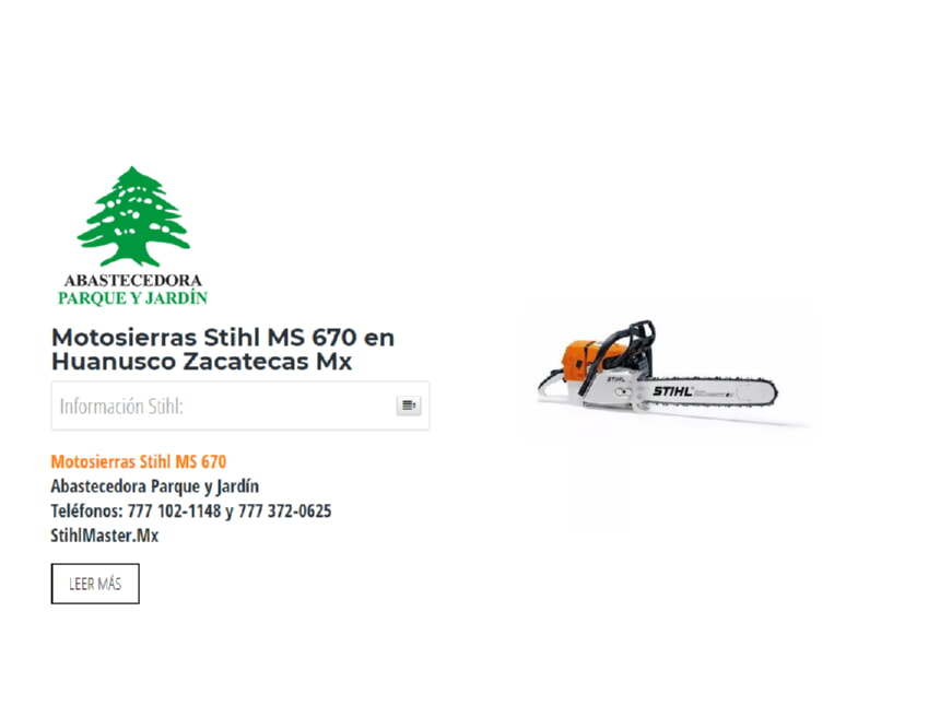 Motosierras Stihl MS 670 en Huanusco Zacatecas Mx