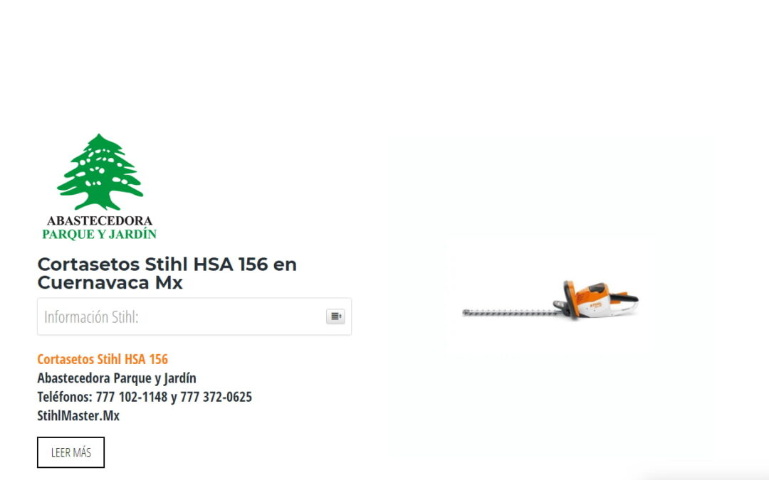 Cortasetos Stihl HSA 156 en Cuernavaca Mx