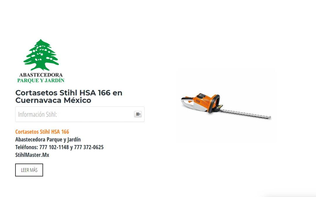 Cortasetos Stihl HSA 166 en Cuernavaca México