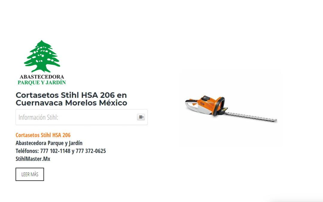 Cortasetos Stihl HSA 206 en Cuernavaca Morelos México