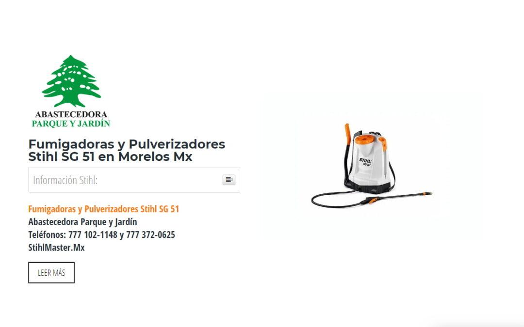 Fumigadoras y Pulverizadores Stihl SG 51 en Morelos Mx