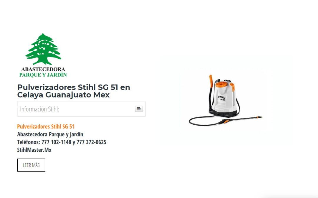 Pulverizadores Stihl SG 51 en Celaya Guanajuato Mex