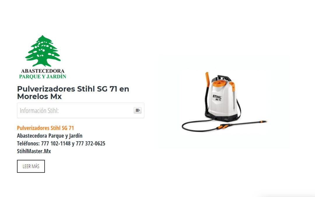 Pulverizadores Stihl SG 71 en Morelos Mx