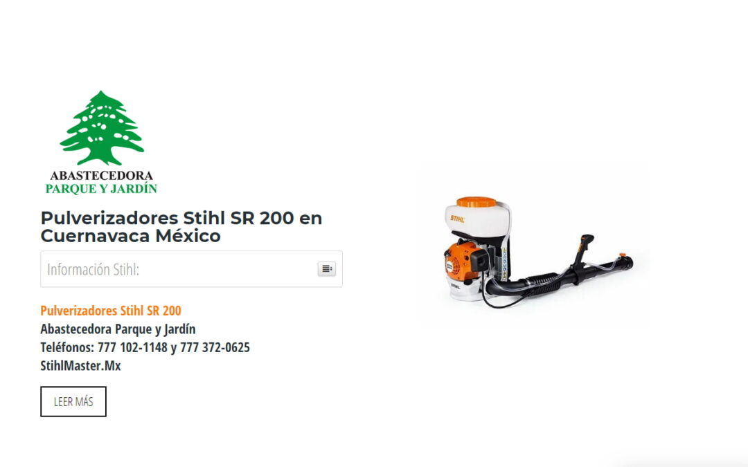 Pulverizadores Stihl SR 200 en Cuernavaca México