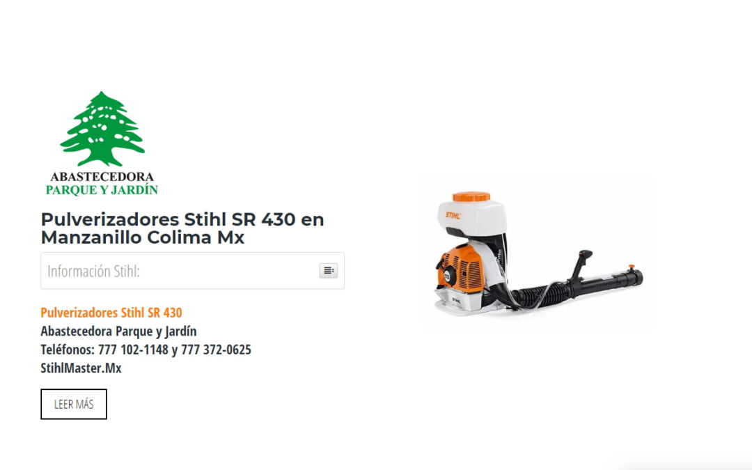 Pulverizadores Stihl SR 430 en Manzanillo Colima Mx