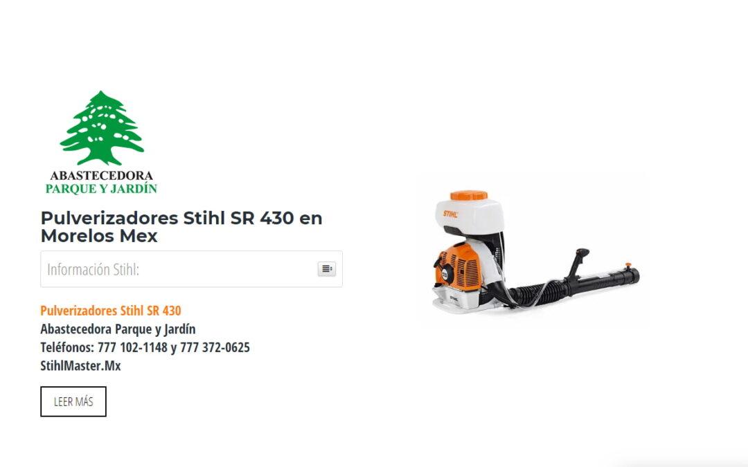 Pulverizadores Stihl SR 430 en Morelos Mex