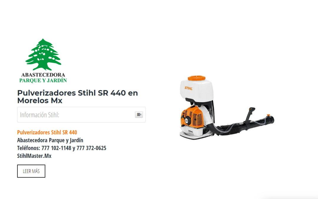 Pulverizadores Stihl SR 440 en Morelos Mx
