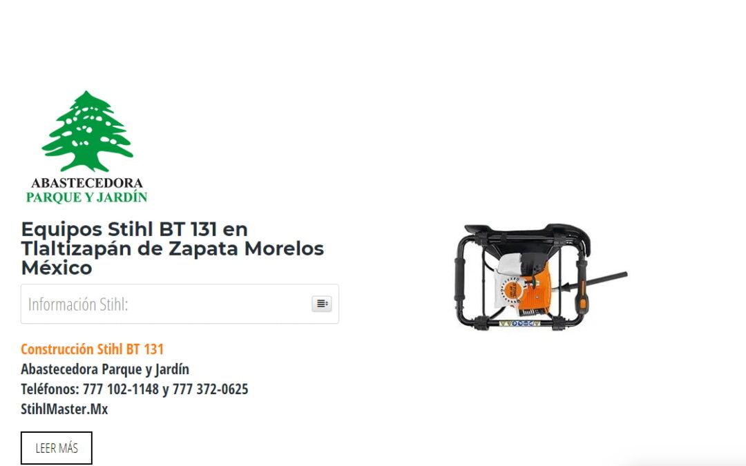 Equipos Stihl BT 131 en Tlaltizapán de Zapata Morelos México