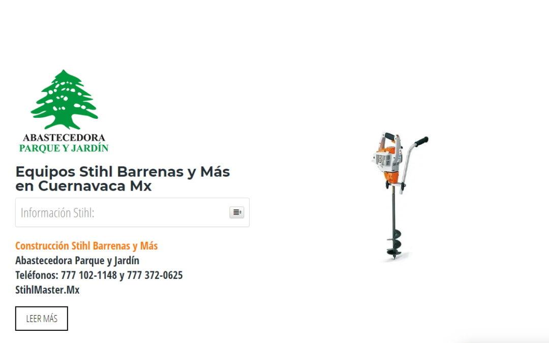 Equipos Stihl Barrenas y Más en Cuernavaca Mx