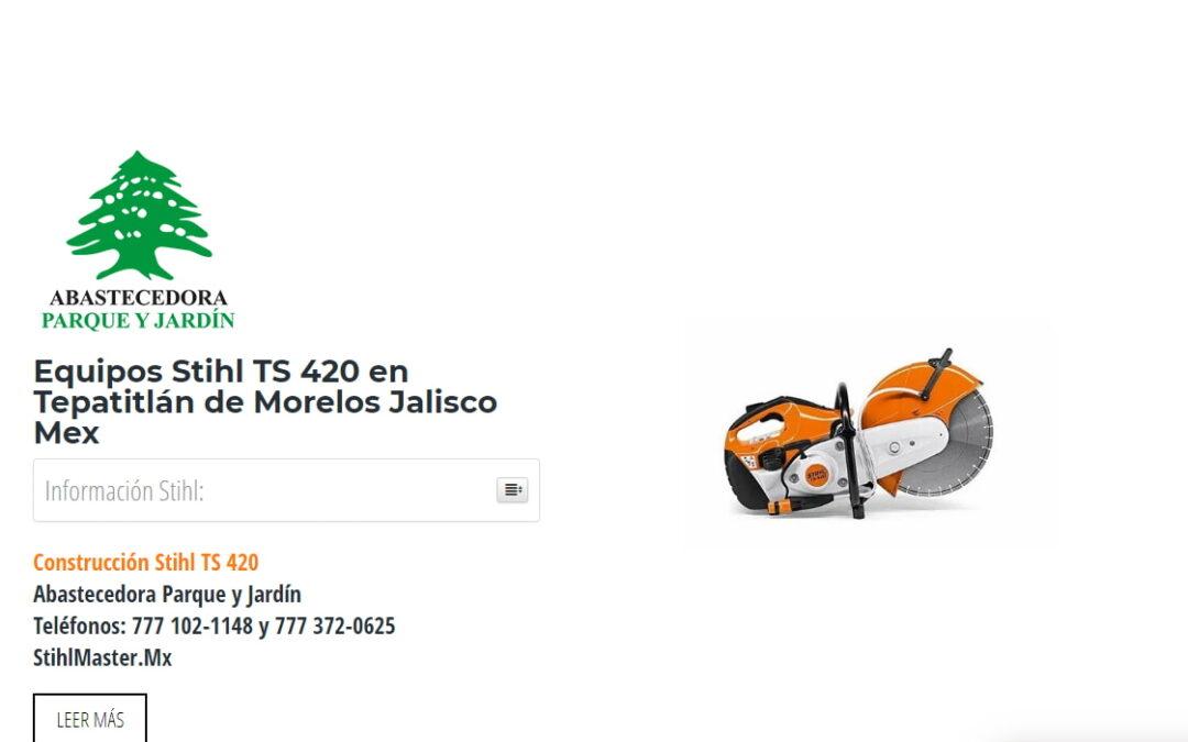 Equipos Stihl TS 420 en Tepatitlán de Morelos Jalisco Mex