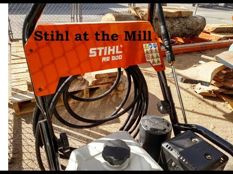 Stihl Pressure Washer RB800 Use on Logs