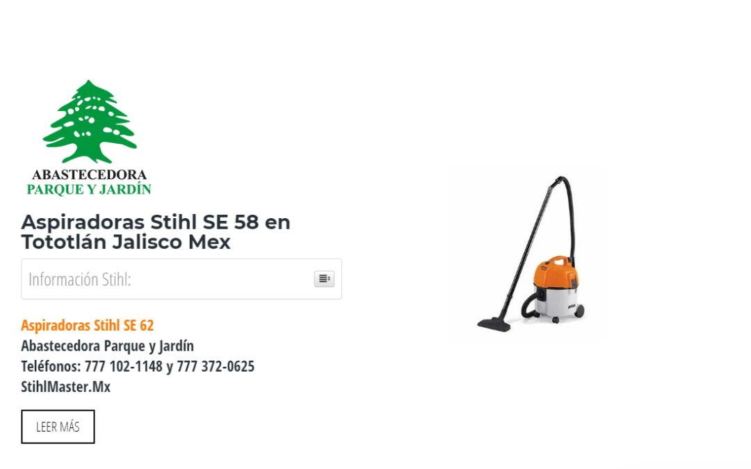 Aspiradoras Stihl SE 58 en Tototlán Jalisco Mex