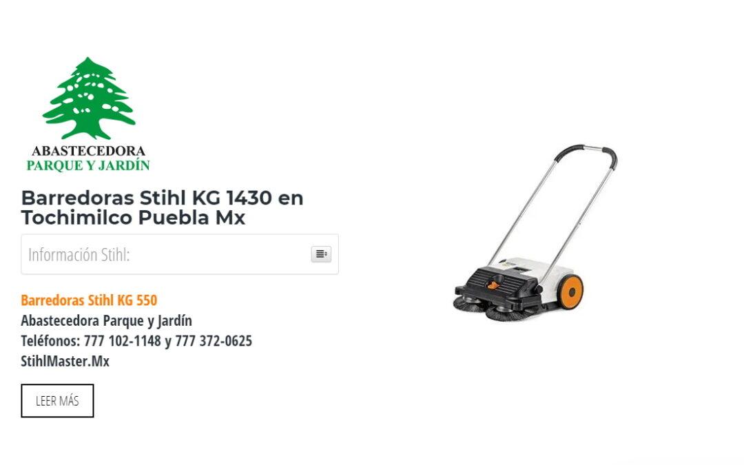 Barredoras Stihl KG 1430 en Tochimilco Puebla Mx