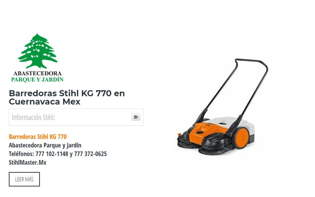 Barredoras Stihl KG 770 en Cuernavaca Mex