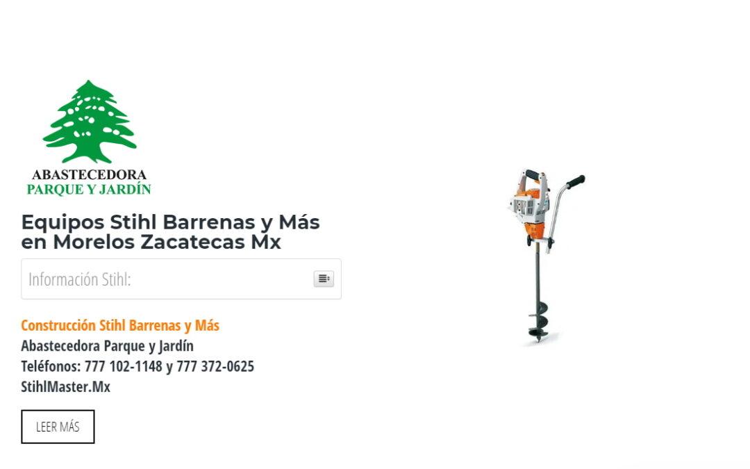 Equipos Stihl Barrenas y Más en Morelos Zacatecas Mx