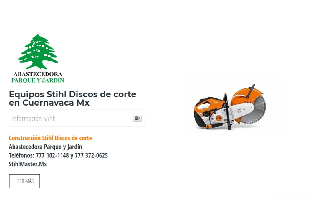 Equipos Stihl Discos de corte en Cuernavaca Mx