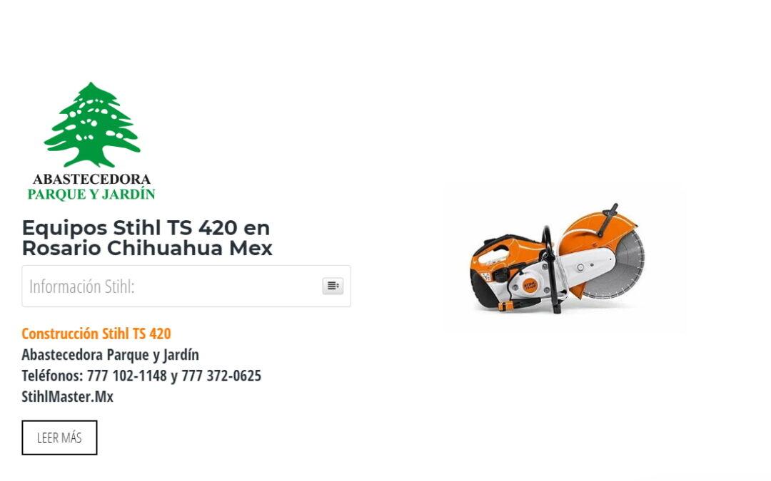 Equipos Stihl TS 420 en Rosario Chihuahua Mex