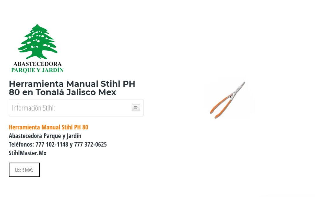Herramienta Manual Stihl PH 80 en Tonalá Jalisco Mex