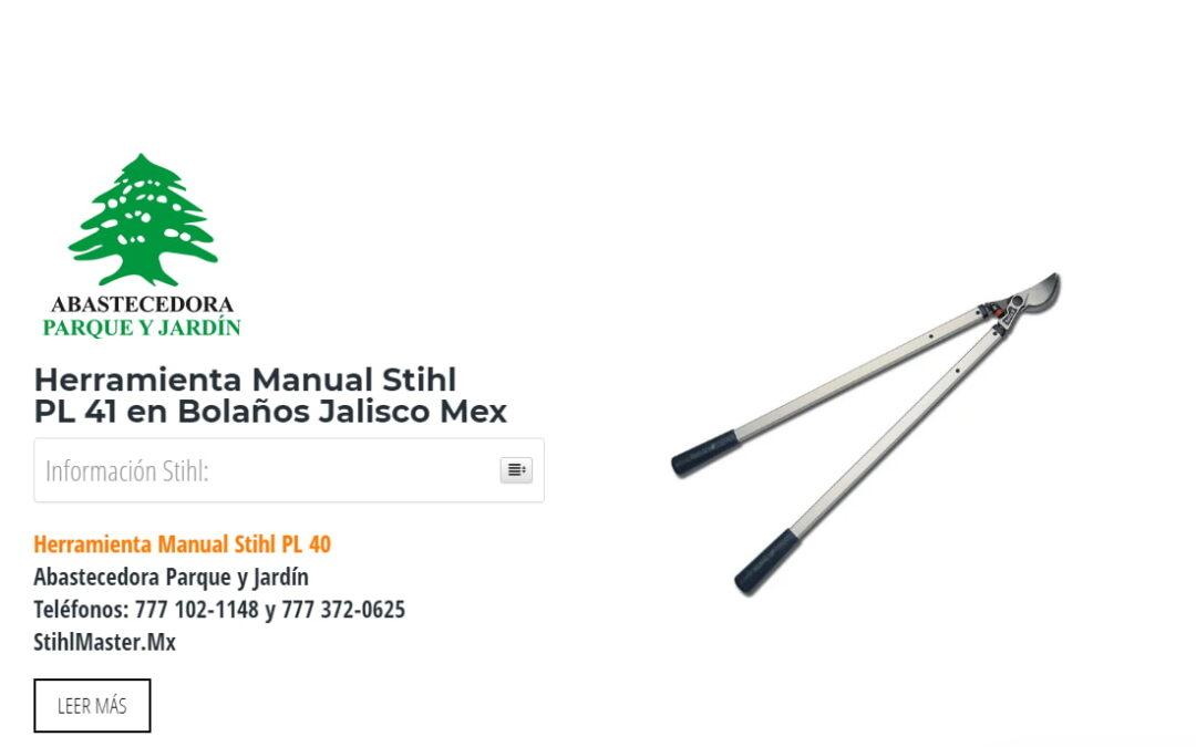 Herramienta Manual Stihl PL41 en Bolaños Jalisco Mex