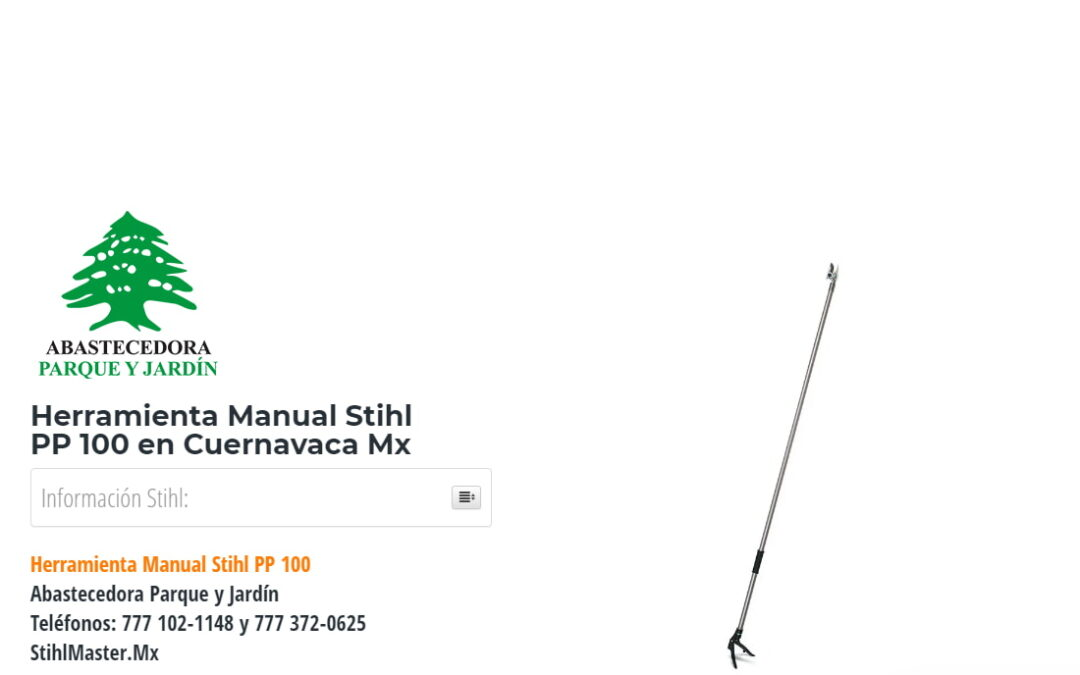 Herramienta Manual Stihl PP100 en Cuernavaca Mx