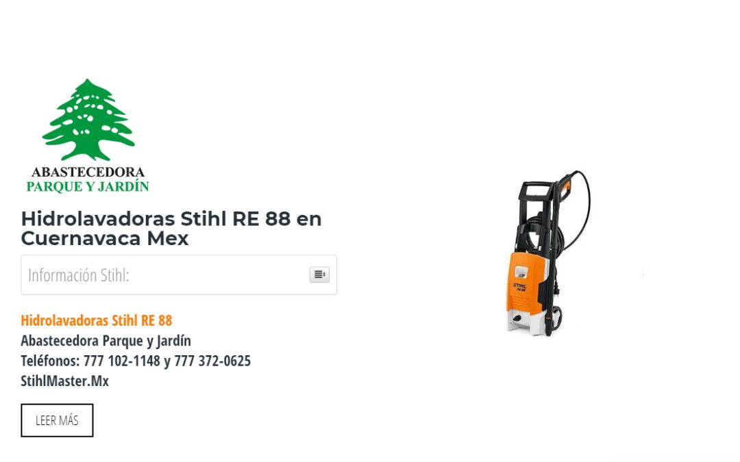 Hidrolavadoras Stihl RE 88 en Cuernavaca Mex