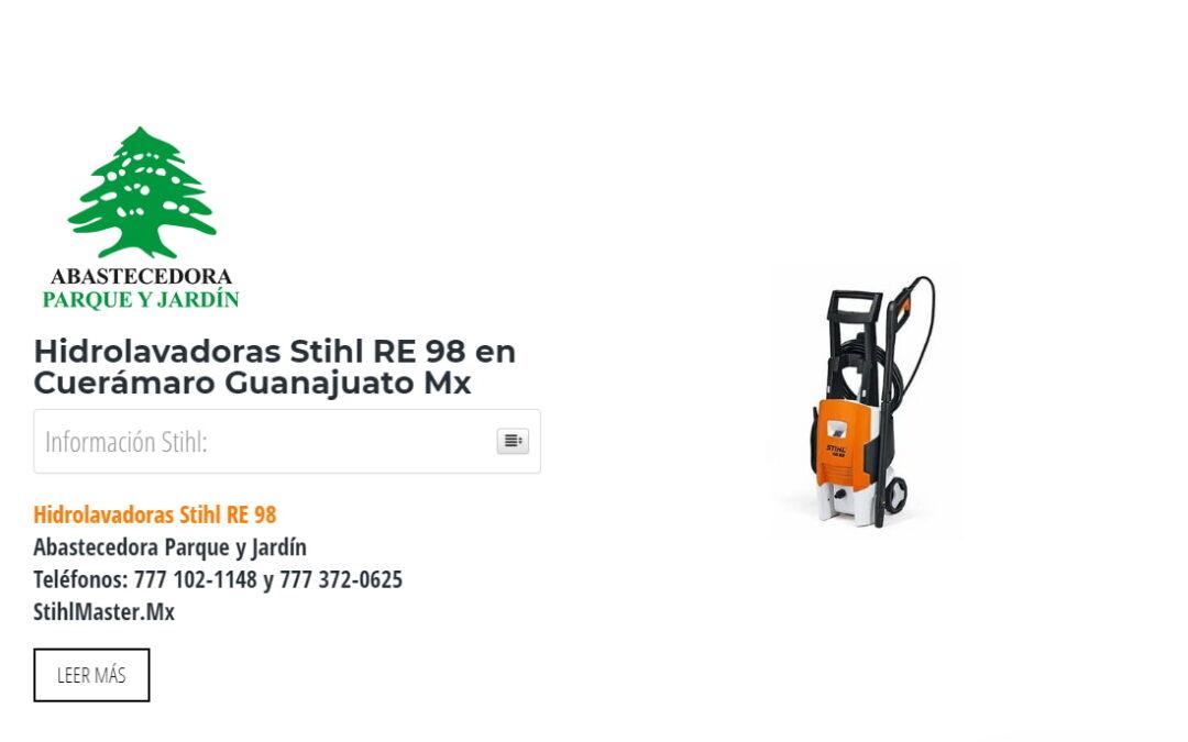 Hidrolavadoras Stihl RE 98 en Cuerámaro Guanajuato Mx