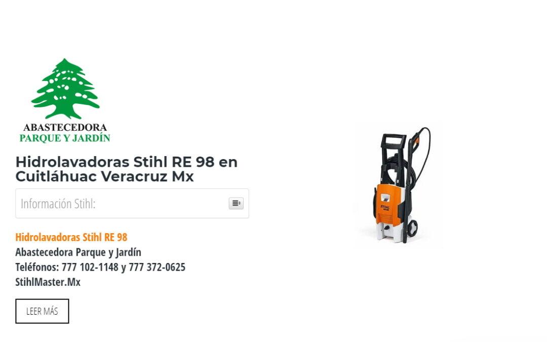 Hidrolavadoras Stihl RE 98 en Cuitláhuac Veracruz Mx