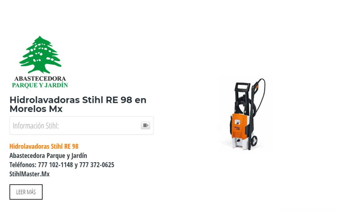 Hidrolavadoras Stihl RE 98 en Morelos Mx