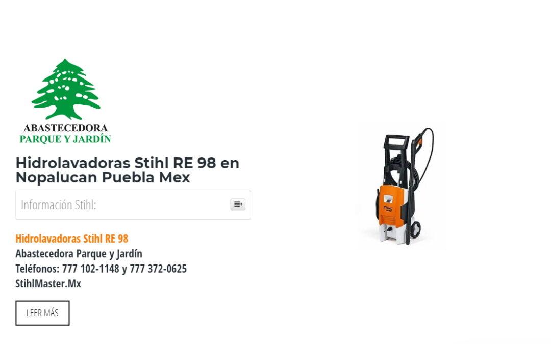 Hidrolavadoras Stihl RE 98 en Nopalucan Puebla Mex