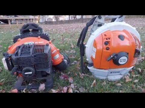 Stihl vs  Echo Blower