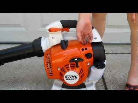 Stihl Blowers: BG 86 CE Starting process