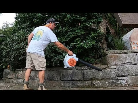 How to use a Leaf Blower Stihl BG86