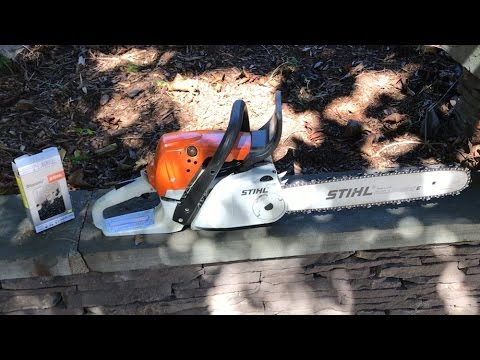 HOW TO: STIHL Chainsaw Chain Replacement – MS251C