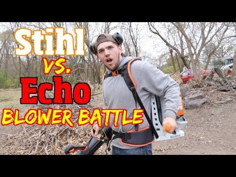 Stihl VS Echo Backpack blower battle
