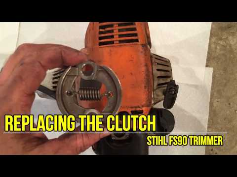 How to replace the clutch on a Stihl FS90R trimmer weedeater