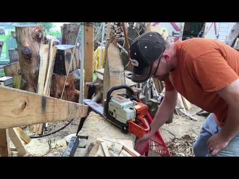 Replacing the gas line on a Stihl 029