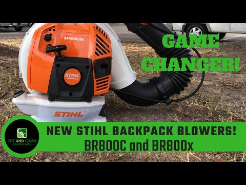 STIHL BR800 Backpack Blower | New BR800c and BR800X Magnum