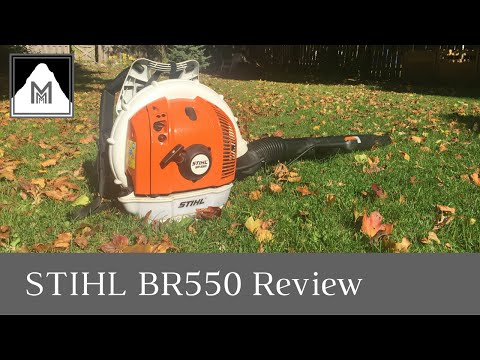 Product Review – STIHL BR550 Backpack Blower