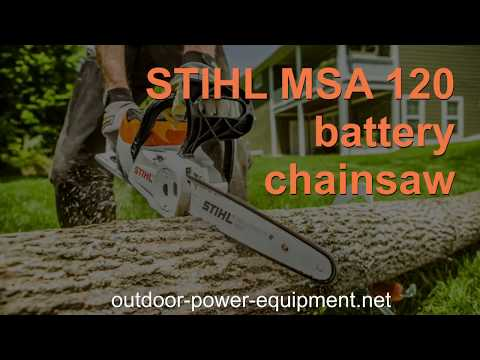 STIHL MSA 120 battery chainsaw. Overview.