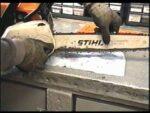 CHAIN ADJUSTMENT on Stihl MS 180c mini boss Chainsaw