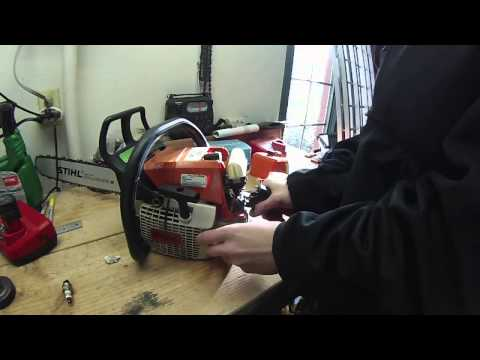 Fixing flooded engine on STIHL chainsaw