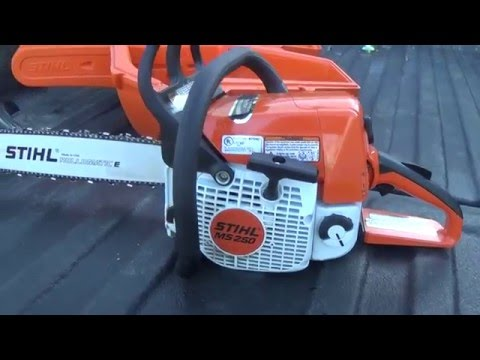 New Stihl MS 250 Chainsaw