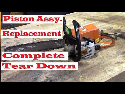 Stihl 025 Chainsaw piston replacement