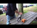 How to fix a flooded STIHL Chainsaw Engine