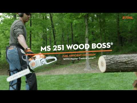 The STIHL MS 251 WOOD BOSS® Chainsaw is a real powerhouse